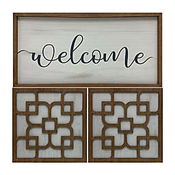 """Masterpiece Art Gallery """"Welcome"""" 24-Inch Square Canvas Wall Art"""