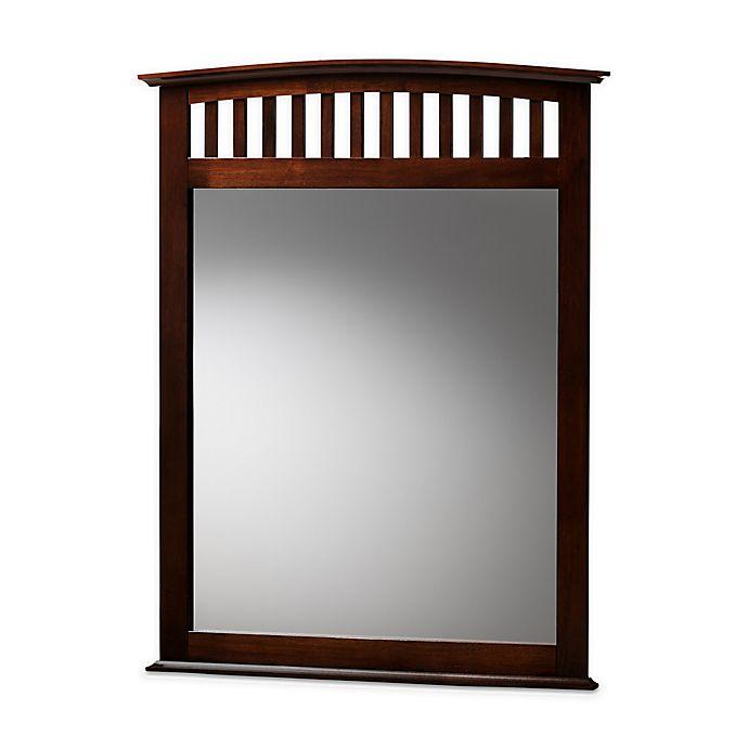 Alternate image 1 for Baxton Studio™ Dareau 38-Inch x 38-Inch Square Dresser Mirror in Dark Brown