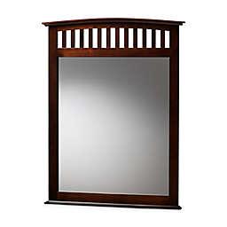 Baxton Studio™ Dareau 38-Inch x 38-Inch Square Dresser Mirror in Dark Brown
