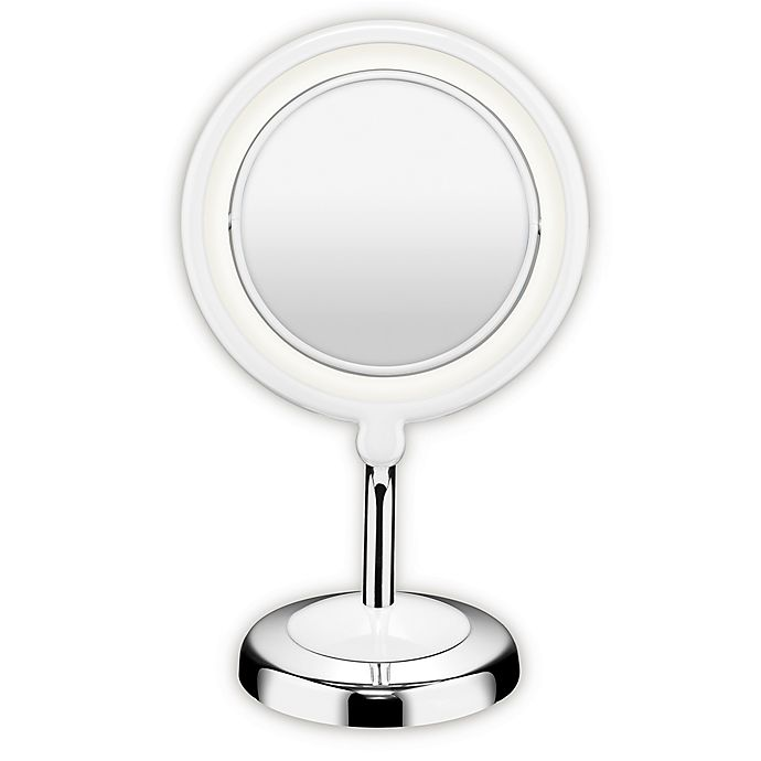Alternate image 1 for Conair® True Glow 1X/3X LED Lighted Mirror in Chrome