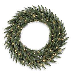 Vickerman 72-Inch Camdon Fir Dura-Lit Pre-Lit Wreath with Clear Lights