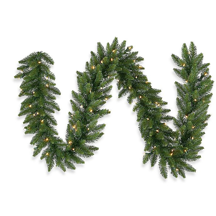 Alternate image 1 for Vickerman Camdon Fir Pre-Lit Garland with White LED Lights