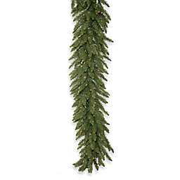 Vickerman Camdon Fir 9-Foot Garland in Green with Clear LED Lights