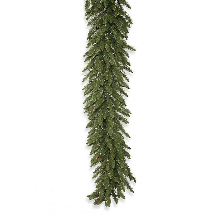 Alternate image 1 for Vickerman Camdon Fir Pre-Lit Garland with Clear LED Lights