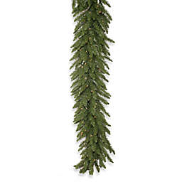 Vickerman 25-Foot Camdon Fir Pre-Lit Garland with Clear LED Lights