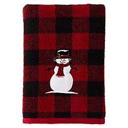 Woodland Winter Bath Towel in Red