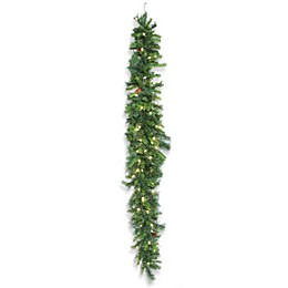 Vickerman 6-Foot Cheyenne Pine Pre-Lit Swag Garland with Clear LED Lights