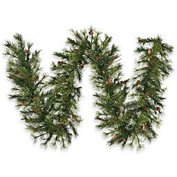 Vickerman 9-Foot x 12-Inch Mixed Country Pine Garland