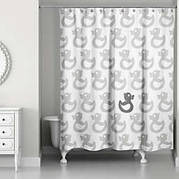Designs Direct 71-Inch x 74-Inch Rubber Duck Shower Curtain