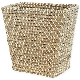 Bee & Willow™ Home Prestwick Wastebasket in Natural/White
