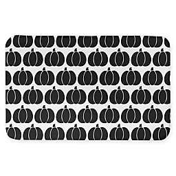 "Designs Direct Black Pumpkin 34"" x 21"" Bath Mat in Black"