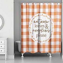 Designs Direct 71-Inch x 74-Inch Autumn Leaves Shower Curtain in Orange