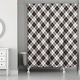 Designs Direct Fall Plaid Shower Curtain