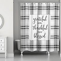 Designs Direct Grateful Thankful Blessed Shower Curtain