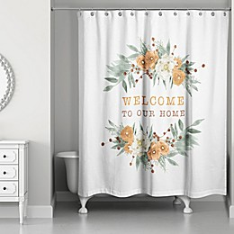 Designs Direct Welcome Fall Floral Shower Curtain