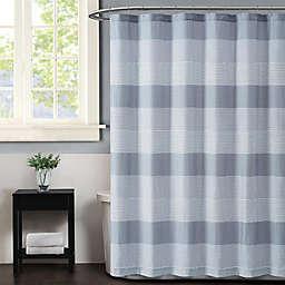 Truly Soft Multi Stripe Shower Curtain in Grey