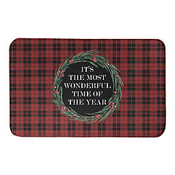 Designs Direct 34-Inch x 21-Inch Most Wonderful Time of the Year Bath Mat