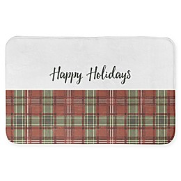 "Designs Direct 34"" x 21"" Happy Holidays Bath Mat"