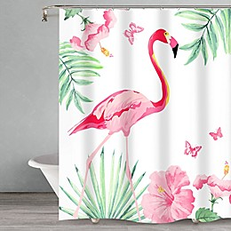 Popular Bath Flamingo Shower Curtain