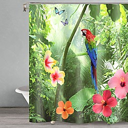 Popular Bath Parrot Shower Curtain