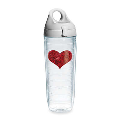 Tervis® Sequin Heart 24-Ounce Water Bottle in Red
