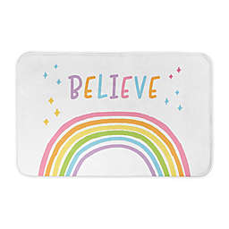 "Designs Direct ""Believe"" Rainbow 34"" x 21"" Bath Rug"