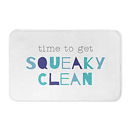 Designs Direct 34-Inch x 21-Inch Time to get Squeaky Clean Bath Mat
