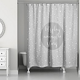 Designs Direct Space Doodle Shower Curtain