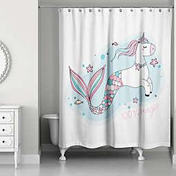 Designs Direct Magical Unicorn Mermaid Shower Curtain