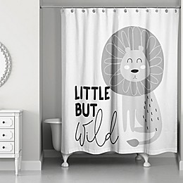 Designs Direct Little but Wild Shower Curtain in Grey