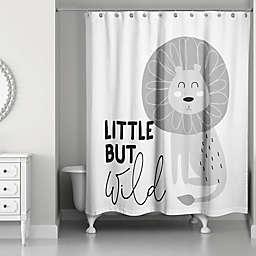 Designs Direct Little but Wild Shower Curtain in Grey