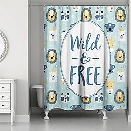 Designs Direct Wild and Free Shower Curtain