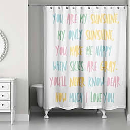 Designs Direct You Are My Sunshine 74-Inchx 74-inch Shower Curtain