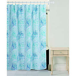 Bloom by Sara Berrenson Sundial Shower Curtain in Blue