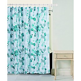 Bloom by Sara Berrenson Eucalyptus Shower Curtain in Teal