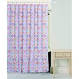 Bloom By Sara Berrenson Paloma Shower Curtain in Coral
