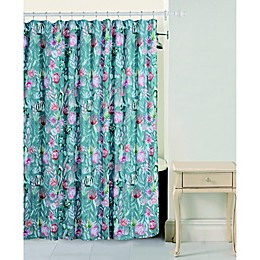 Bloom By Sara Berrenson Cactus Flower Shower Curtain in Sage