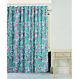 Bloom By Sara Berrenson Cactus Flower Shower Curtain in Sage