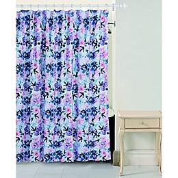 Bloom By Sara Berrenson Rose Shower Curtain in Indigo