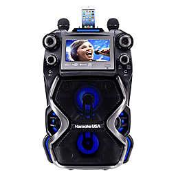 Karaoke USA CDG/MP3G Portable Karaoke Machine with 7-Inch Display Screen in Black