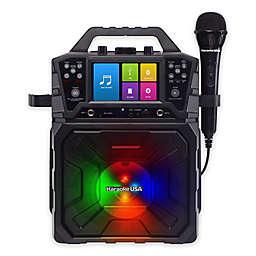 Karaoke USA MP3G Portable Karaoke Machine with 4.3-Inch Display Screen in Black
