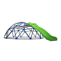 Deluxe Metal Dome Climber with Slide in Blue/Green