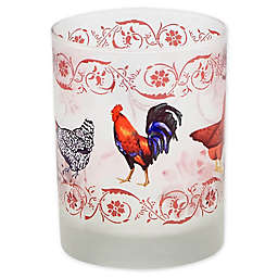 French Country Chicken Double Old Fashioned Glasses (Set of 4)