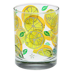 Culver® Lemon Slices Double Old Fashioned Glasses in Yellow (Set of 4)
