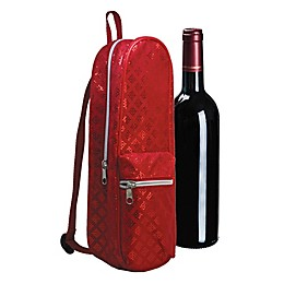 Wild Eye Designs Single Bottle Wine Mini Backpack in Crimson