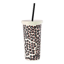 kate spade new york Flair Flora 20 oz. Travel Tumbler in Black