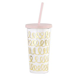 kate spade new york Heart Knot 20 oz. Travel Tumbler in Gold