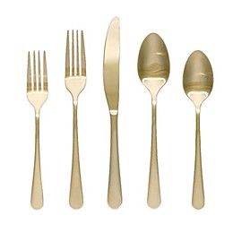 Artisanal Kitchen Supply™ Ghent 20-Piece Flatware Set in Gold Satin