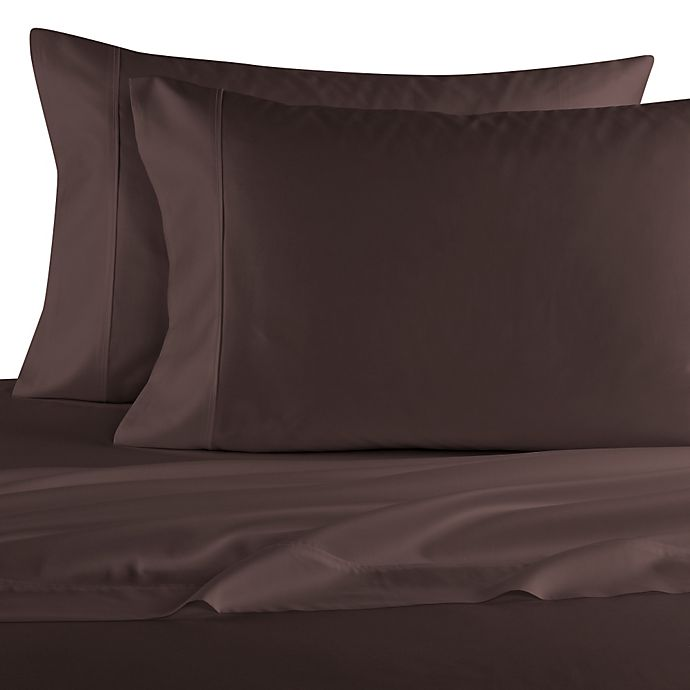 Alternate image 1 for Elizabeth Arden™ Soft Breeze Cotton Sateen 400-Thread-Count King Pillowcase Pair in Brown