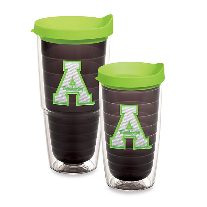 Alternate image 1 for Tervis® Appalachian State University Mountaineers Emblem Tumbler with Lid in Neon Green